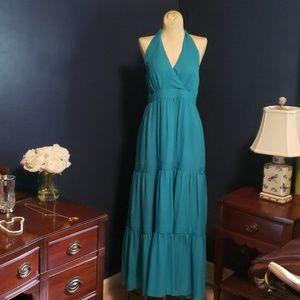 Talbots silk halter dress